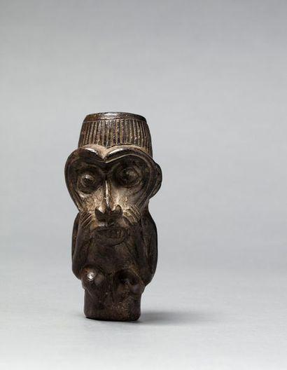 Fourreau de pipe présentant la figure totémique...