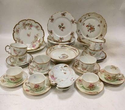 LIMOGES et divers  Parties de service à thé...