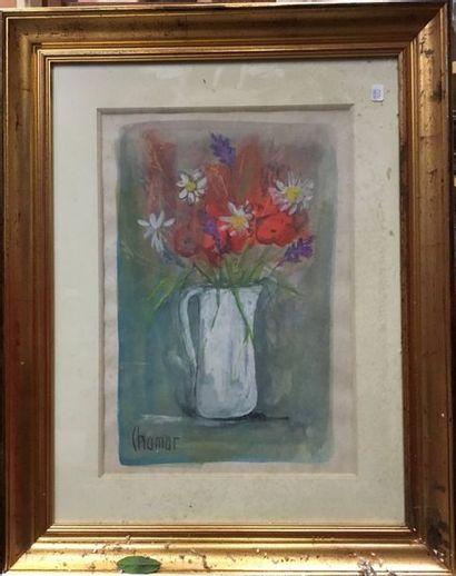 CHAMAR (1926 - 1980)  Peintre Marseillais...