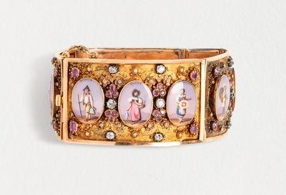Délicat bracelet en or jaune 18k (750 millièmes)...