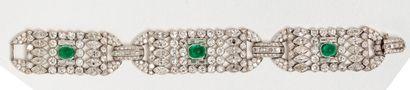 Bracelet en platine (950 millièmes) composé...