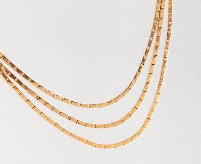 Collier draperie en or rose 18k (750 millièmes)...