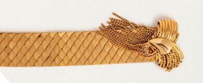 Bracelet large en or jaune 18k (750 millièmes)...