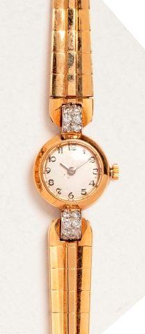 Boîtier de montre de dame LEROY FILS en or...