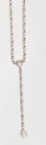 Collier cravate CHOPARD en or gris 18k (750...