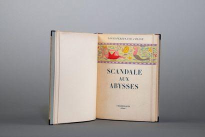 CÉLINE (Louis-Ferdinand). Scandale aux abysses, argument de dessin animé. Paris,...