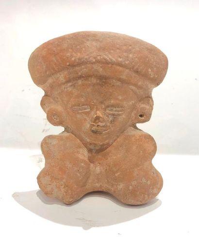 Ocarina cérémoniel modelé d'un dignitaire...
