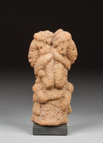 Statuette Janus présentant deux dignitaires...