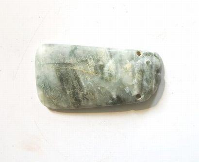 Pendentif talismanique en pierre avec percement...