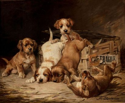 Frederico OLARIA (Valence 1848-1898) Un colis...