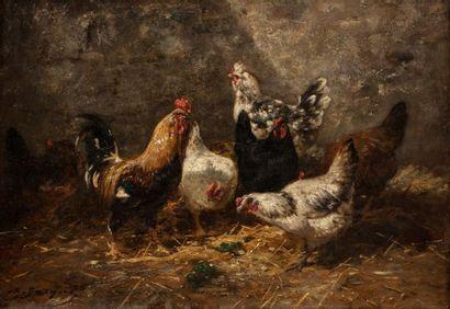 Charles Emile JACQUE (Paris 1813 - 1894)...