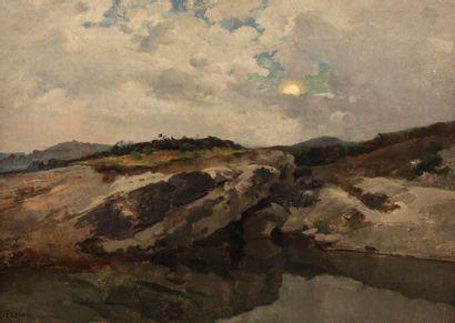 Jean Charles CAZIN (1841-1901) Paysage en...