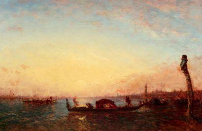 Félix ZIEM (Beaune 1821 - Paris 1911) Gondole...