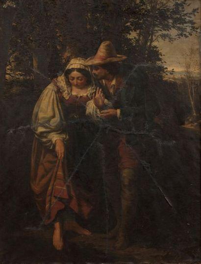 Léon LEGAT (Né en 1829- ?) Couple d'italiens...