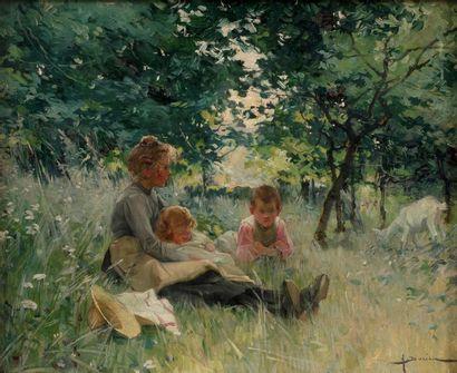 Henri Gaston DARIEN (Paris 1864-1926) Tendresse...