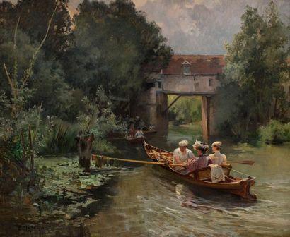 Emile DAMERON (Paris 1848 - Paris 1908) Promenade...