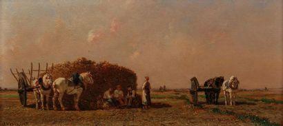 Jules VEYRASSAT (Paris 1828 - 1893) Barbizon,...