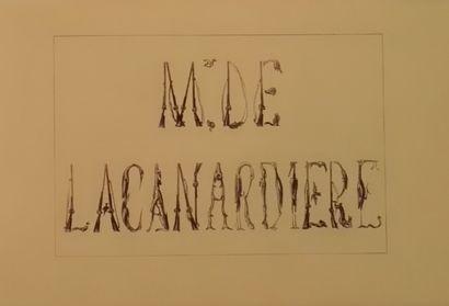 « Mr de la Canardière » avec 26 planches...