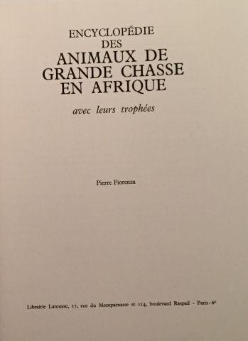 « Animaux de Grande chasse en Afrique » -...