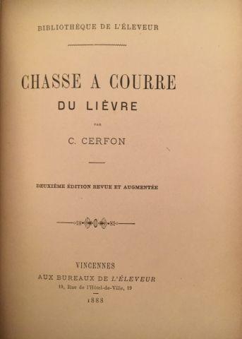 « La chasse à courre du Lièvre ». Auteur...