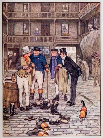 """Cécil ALDIN (1870-1935) Les papiers posthumes de Pickwick Club"""" Texte par Charles..."""