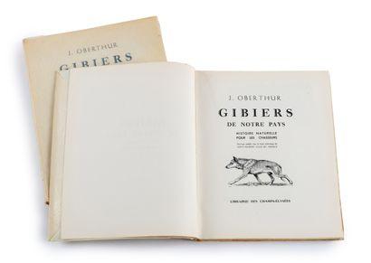 J. OBERTHUR 7 livres brochés :