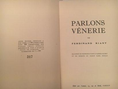 «Parlons Vénerie » - Ferdinand Riant Ouvrage édité à compte d'auteur en décembre...