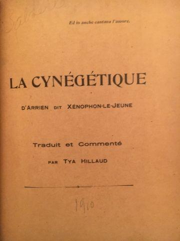 La Cynégétique – d'ARRIEN dit Xénophon le...