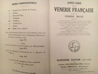 Annuaire de la Vénerie Française et belge....