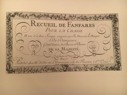 « Recueil de Fanfares pour la chasse » -...