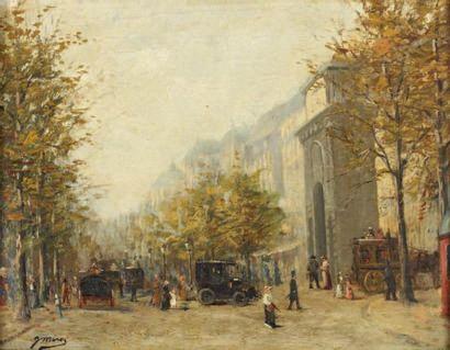 Gaspar I ILLEO MIRO (Vilanova 1859-Paris 1930) Les grands Boulevards et la porte...