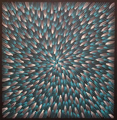 Abie Loy Kemarre (1972 - ) Sans titre Acrylique sur toile - 30 x 30 cm Groupe Anmatyerre...