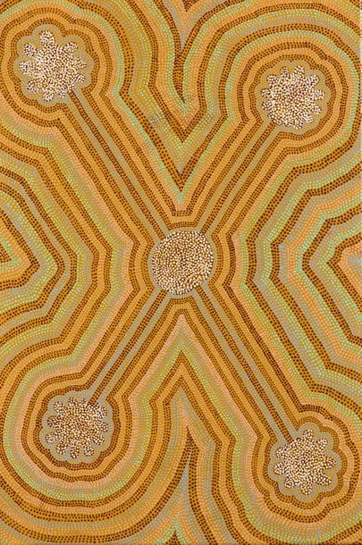 Lucky Morton Kngwarreye (c. 1950 - ) Honey...
