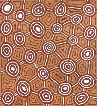 George Yapa Tjangala (1946 - ) Sans titre, 1996 Acrylique sur toile - 60 x 55 cm...