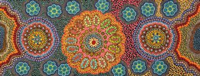 William Pengarte Bush Flowers, 2017 Acrylique sur toile - 91 x 35 cm Groupe Arrente...