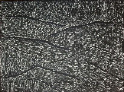 Lilly Kelly Napangardi (1948 - ) Sans titre, 2017 Acrylique sur toile - 61 x 46...
