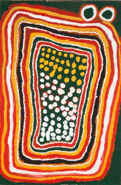 John Mosquito Tjapangati (c. 1922 - 2004) Kiddel Lake in the Great Sandy Desert...
