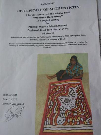 Nellie Marks Nakamarra (1976 - ) Womens Ceremony, 2012 Acrylique sur toile - 120...