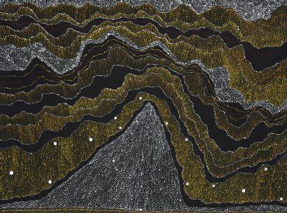 Julie Nangala (1973 - ) Sans titre Acrylique sur toile - 130 x 95 cm Groupe Warlpiri...