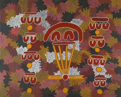 Sylvia Walchope Bush Tomato Ceremony, 1989 Acrylique sur toile - 150 x 121 cm Groupe...