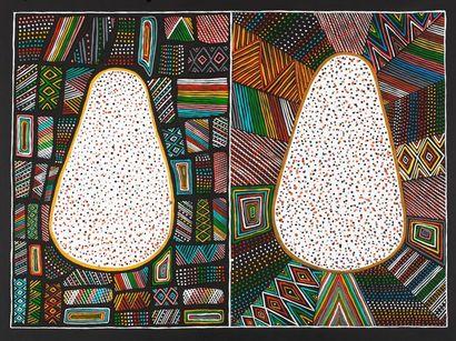 Diane Tipungwuti (1961 - ) Sans titre Acrylique...