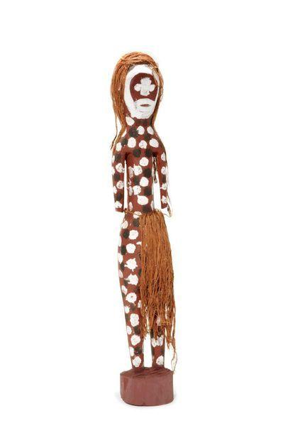 Lena Yarinkura (1961 - ) Spirit figure Pigments naturels et acrylique sur bois H...