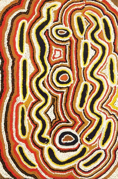 Mona Rockman Napaljarri (c. 1924 - ) Warna...
