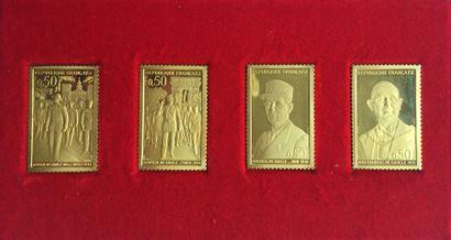 Reproduction des timbres émis par le Ministère...