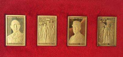 Reproduction des timbres De Gaule, même genre...