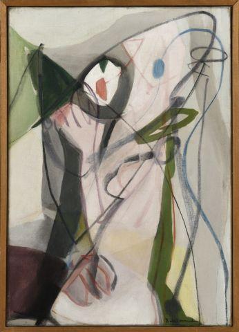 Eugène de KERMADEC (1899-1976) Femme sur le mode bruyant, 1949 Huile sur toile signée...
