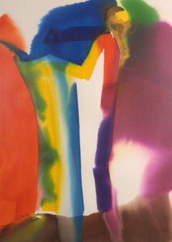 Paul JENKINS (1923-2012) Phenomena Standard Bearer, 1987 Aquarelle sur papier signé...