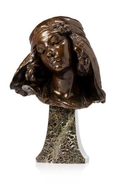 """Louis Ernest BARRIAS (1841 - 1905) """"Jeune fille de Bou-Saâda"""" 1894 Fonte d'édition..."""