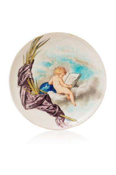 Théodore DECK (1823 - 1891) et Jules LEGRAIN (décorateur) Assiette en faïence à...