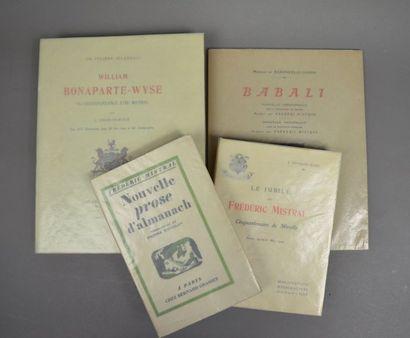 FÉLIBRIGE. Ensemble 4 ouvrages.  - BARONCELLI-JAVON....